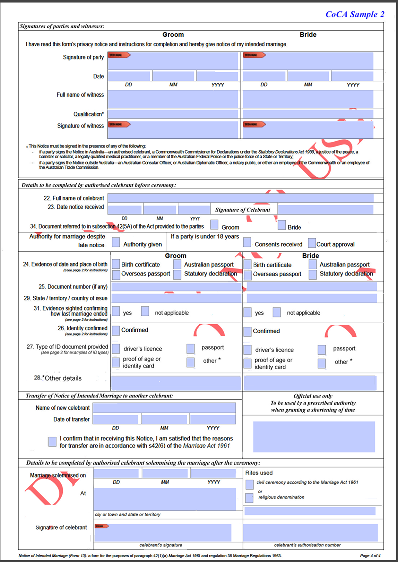 Coca submission marriage forms 2017 coca 1 form 14 yadclub Choice Image